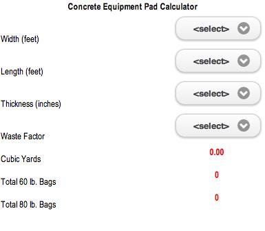 Concrete Equipment Pad